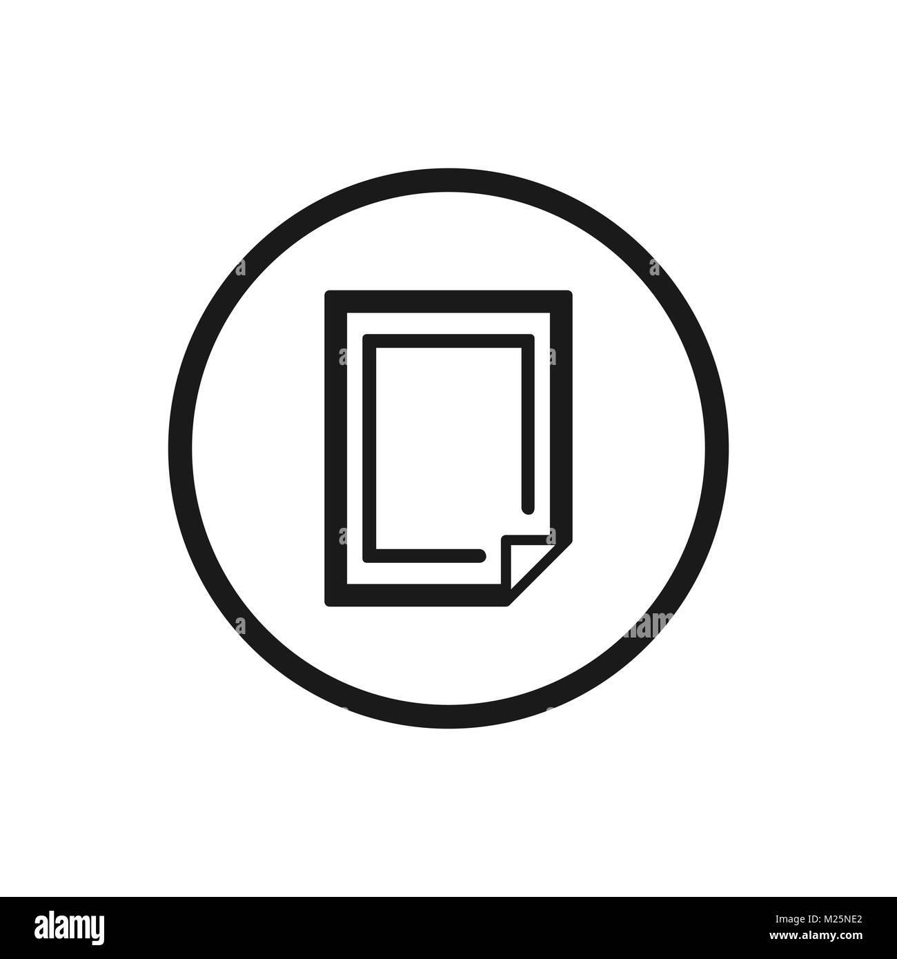 Icono de póster sobre un fondo blanco. Ilustración vectorial Imagen De Stock