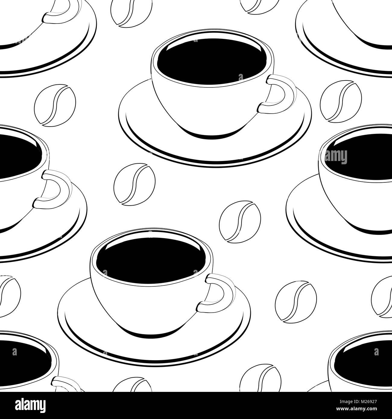 La taza de caf perfecta esquema patr n vector la for Papel tapiz de patron para el pasillo