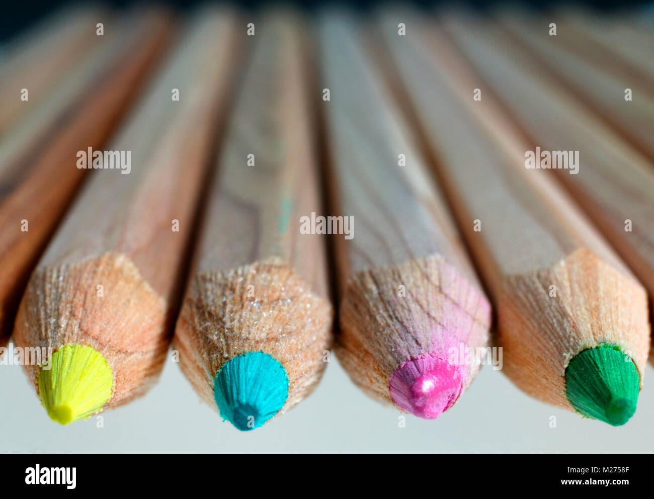 Lápices de colores Foto de stock