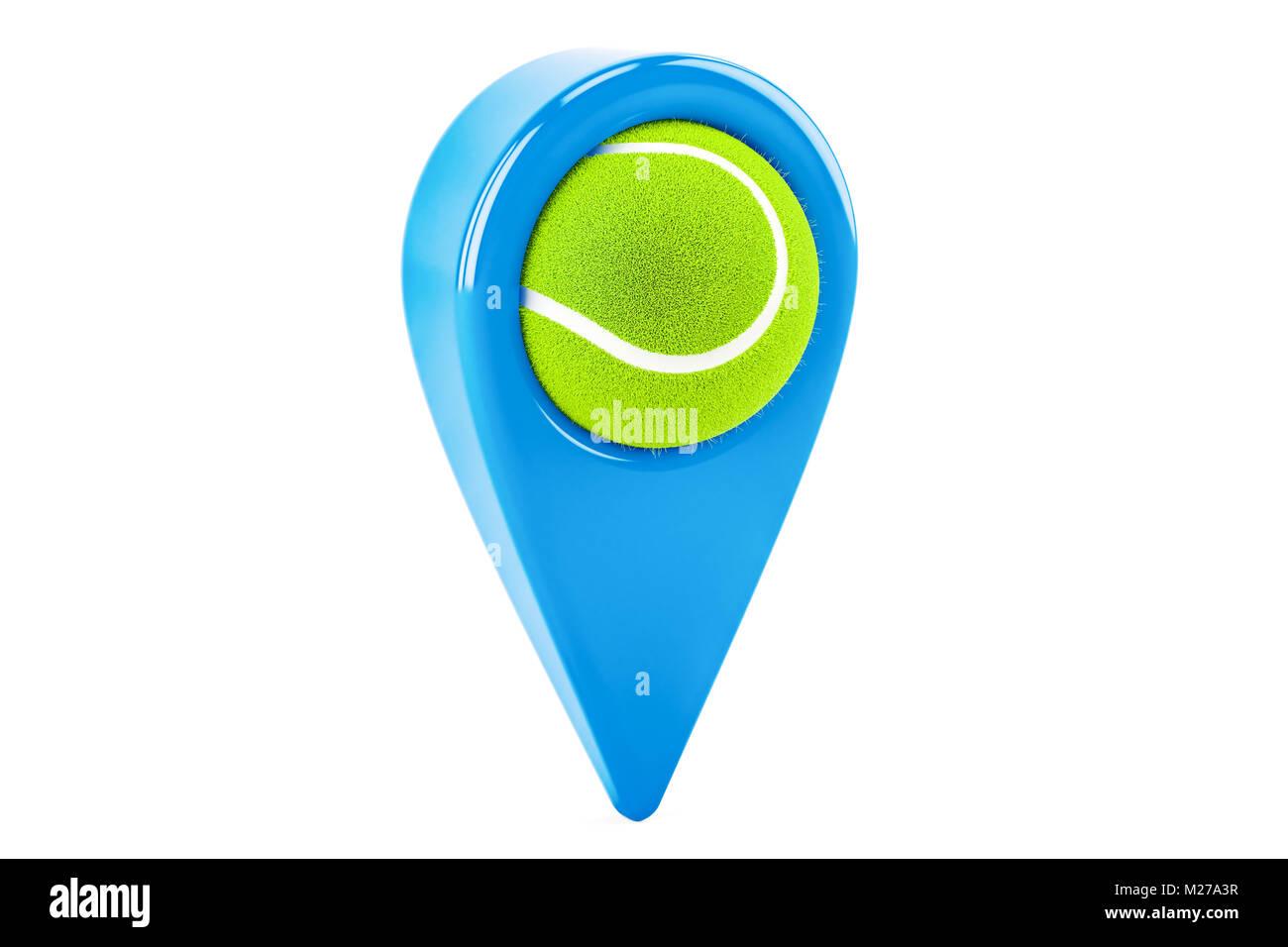 Mapa Con Un Puntero Ubicación: Tennis Icon Sign Symbol On Imágenes De Stock & Tennis