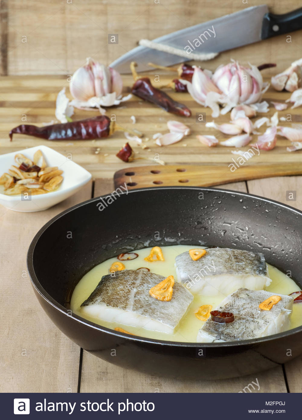 La Cocina Vasca | Bacalao Con Pil Pil La Cocina Vasca Foto Imagen De Stock