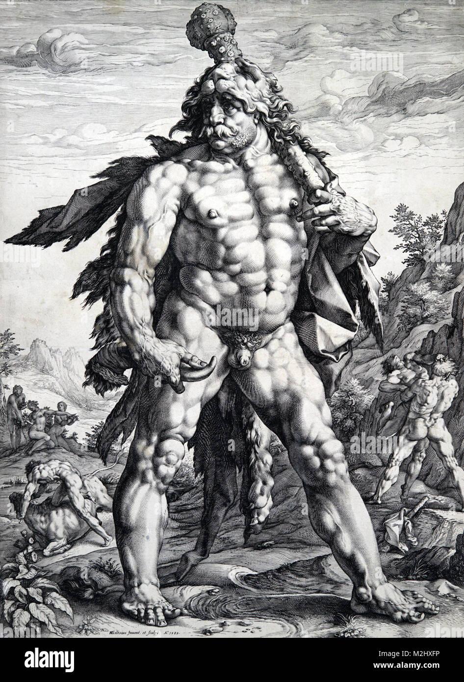 Hércules, Héroe Romano y Dios Foto de stock