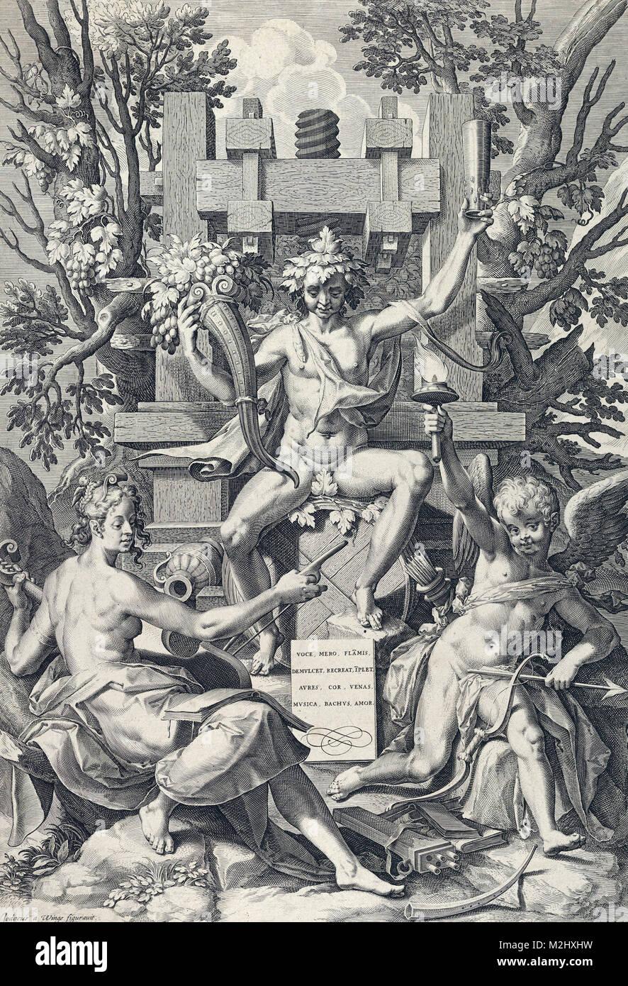 Baco, dios romano del vino Imagen De Stock
