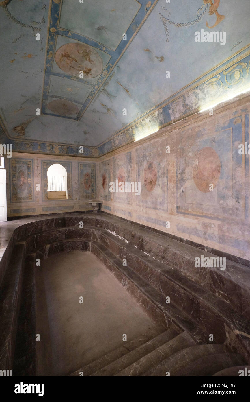 Real Sitio de San Leucio, la reina Marie Caroline baño de Caserta, Italia, Europa Imagen De Stock