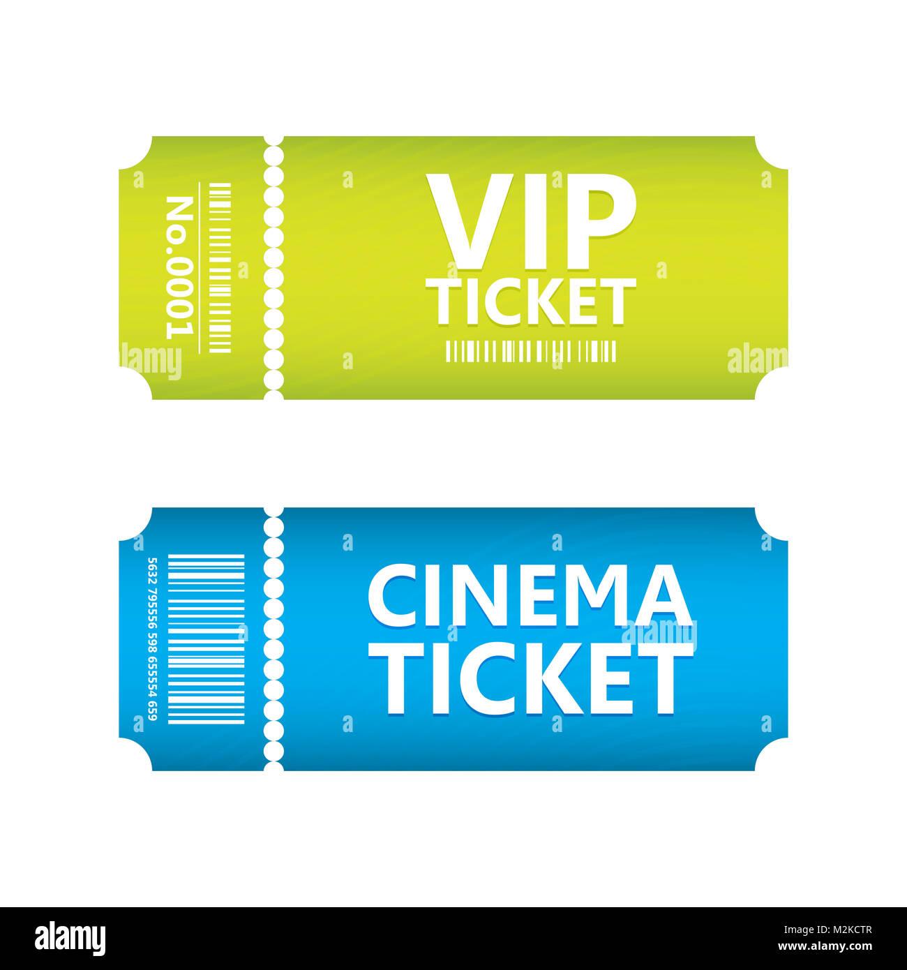Billete especial de películas, diseño vectorial EPS10 Imagen De Stock