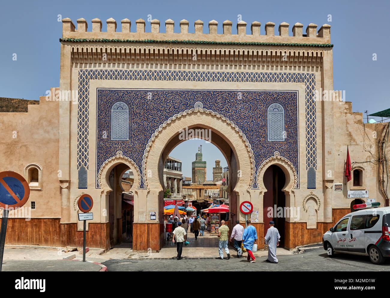 Resultado de imagen de Fez, Marruecos BAB BOUJLOUD