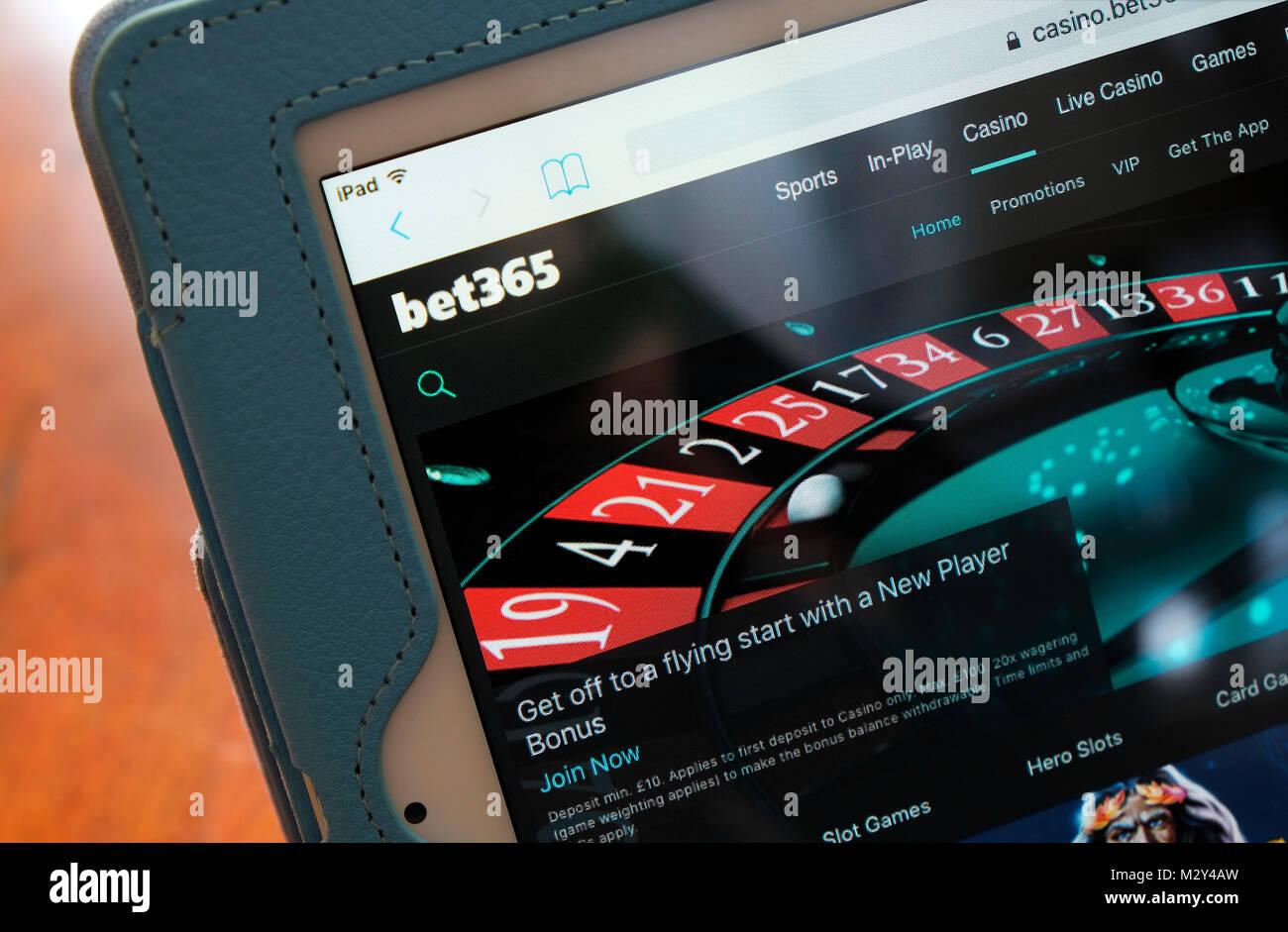 Apuesta 365 juegos de casino online, página principal Imagen De Stock