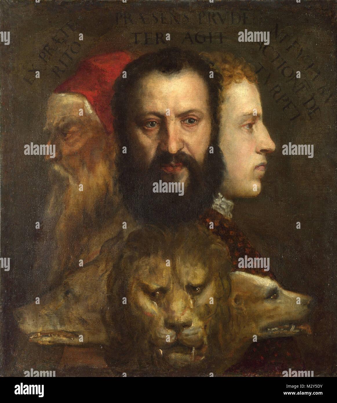 Tiziano, La alegoría de edad gobernada por la prudencia (c. 1565 ...
