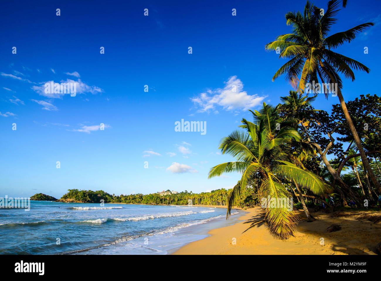 Playa Bonita, Playa Bonita, Las Terrenas, República Dominicana Imagen De Stock