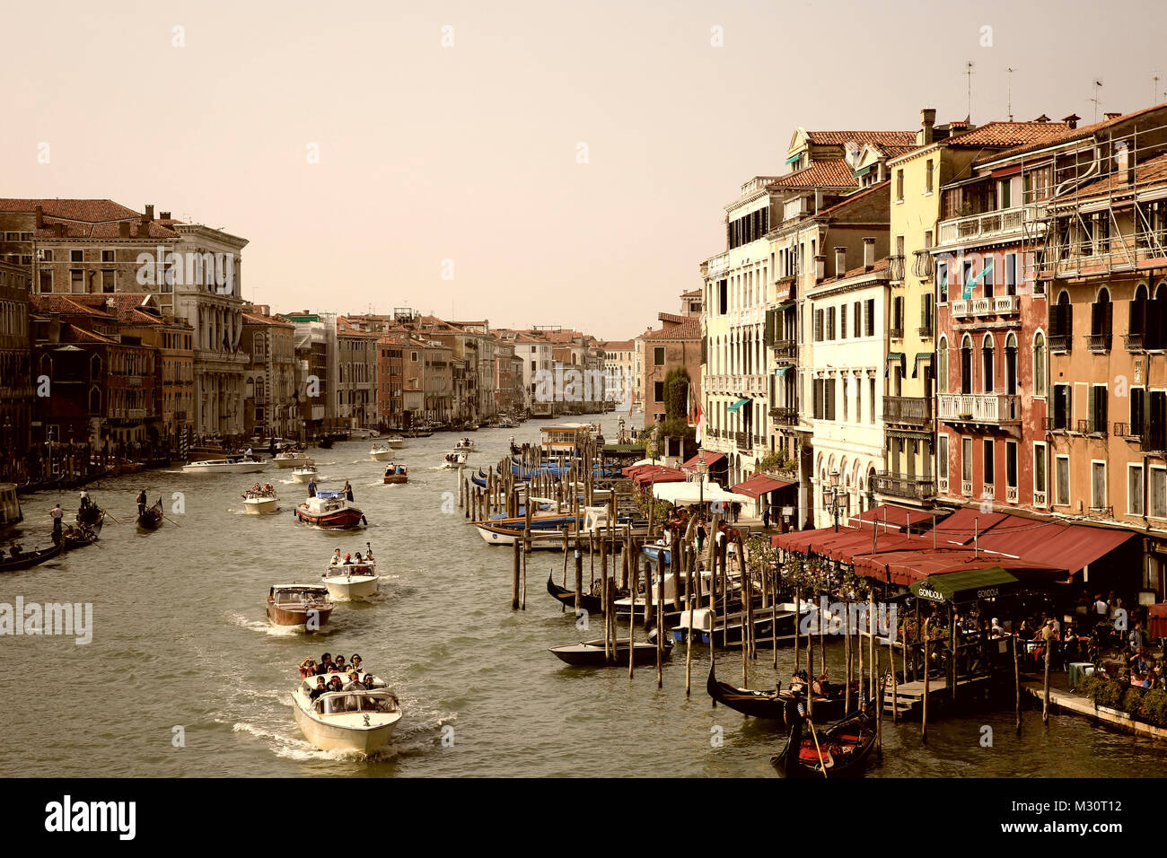 La fotografía de la calle en la ciudad de Venecia, Italia Imagen De Stock