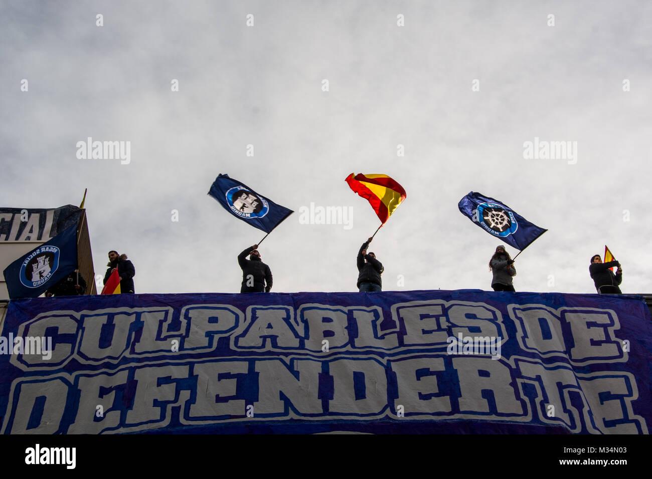 Madrid España 9 Feb 2018 Los Miembros Del Grupo De