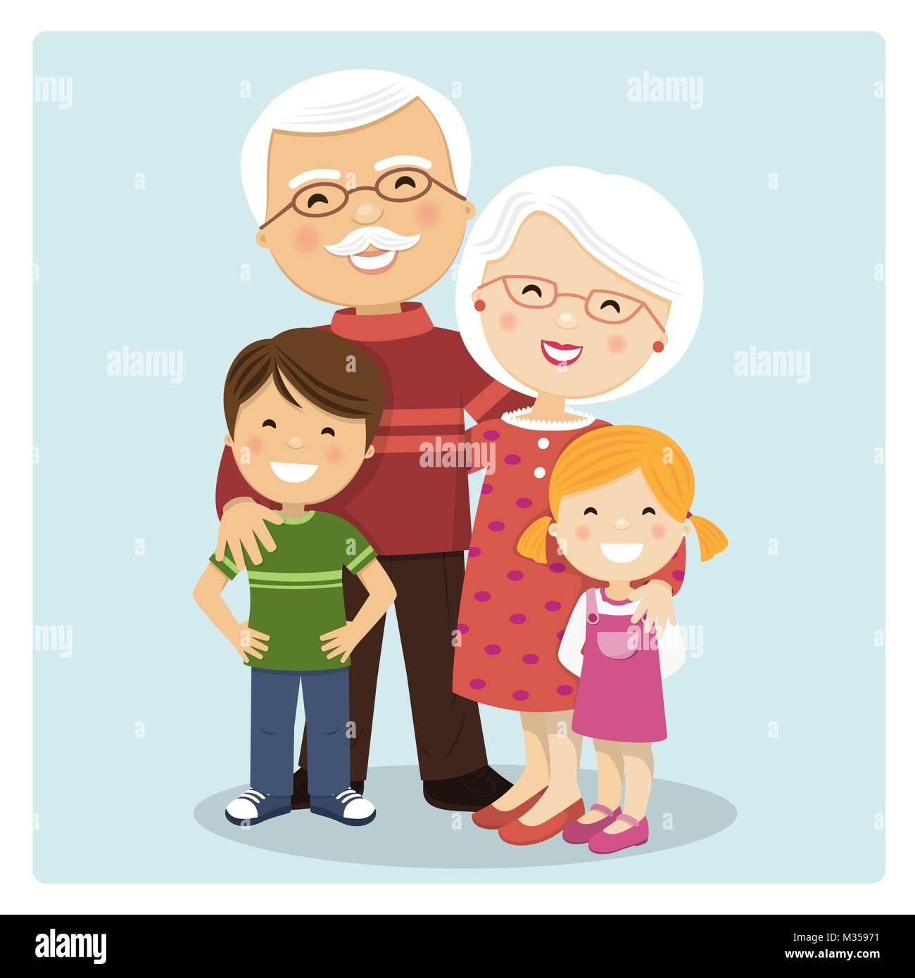 Grandparents Vector Vectors Imágenes De Stock & Grandparents Vector ...