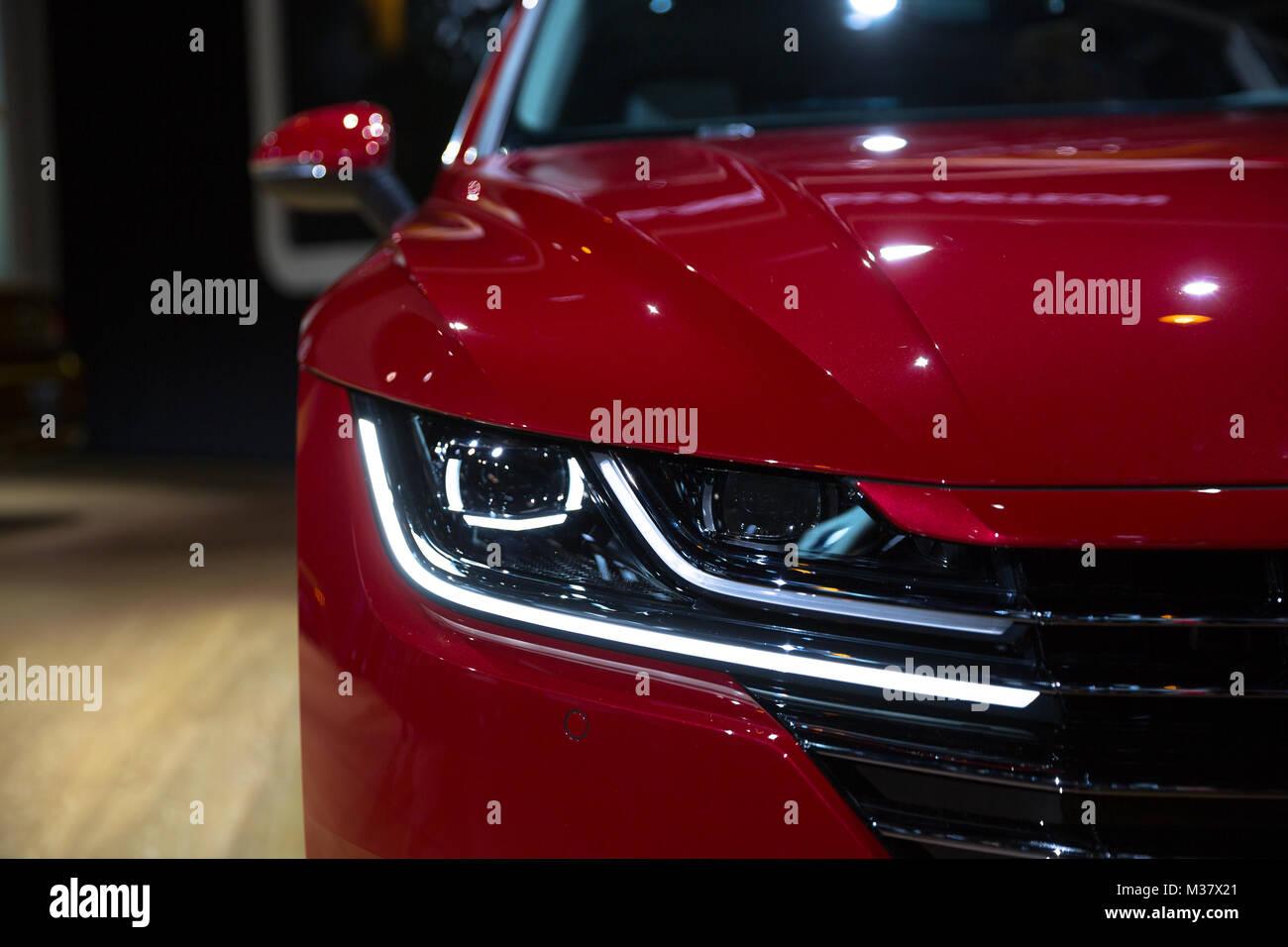 El 2019 Volkswagen sedán Arteon fue desvelado en el Chicago Auto Show 2018 Imagen De Stock