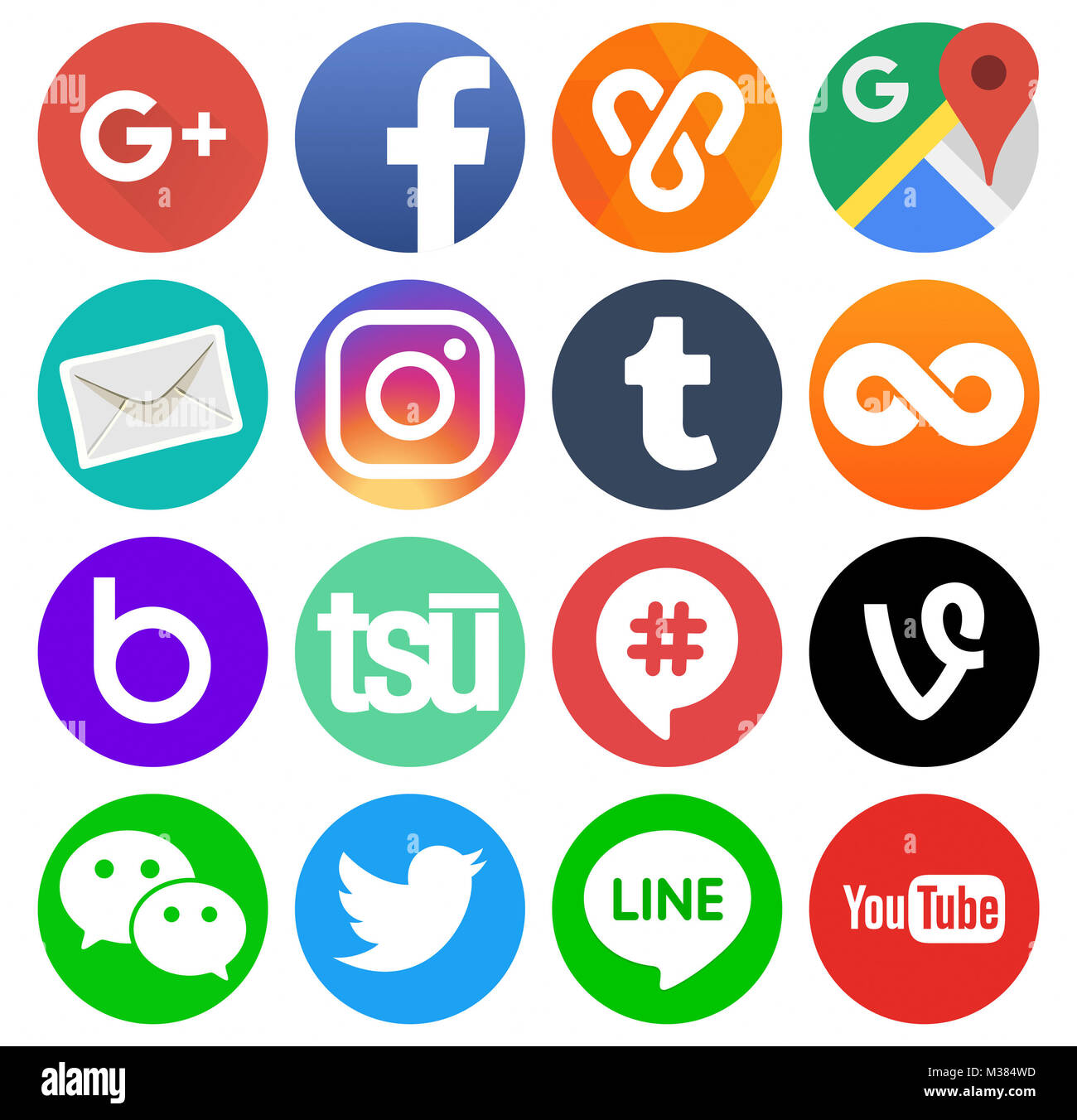 3744851fc36c2 Logos De Redes Sociales Imágenes De Stock   Logos De Redes Sociales ...