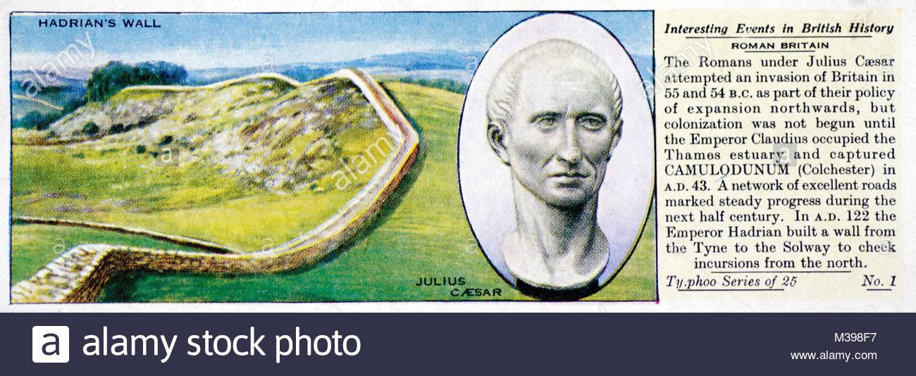 Eventos interesantes en la historia británica - Bretaña romana Imagen De Stock