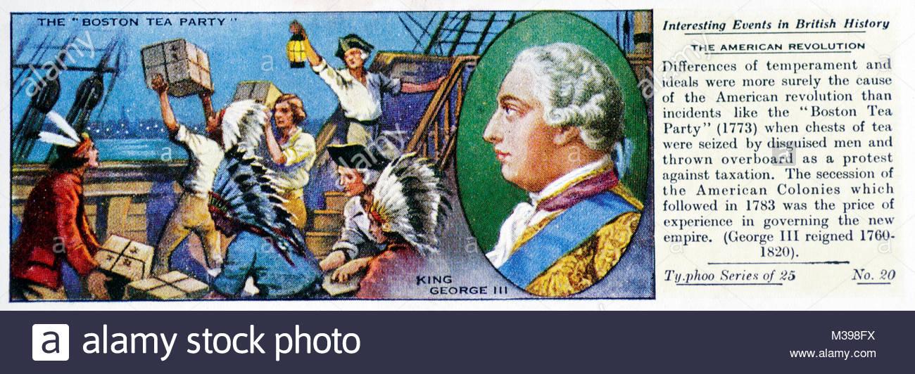 Eventos interesantes en la historia británica - La Revolución americana Imagen De Stock