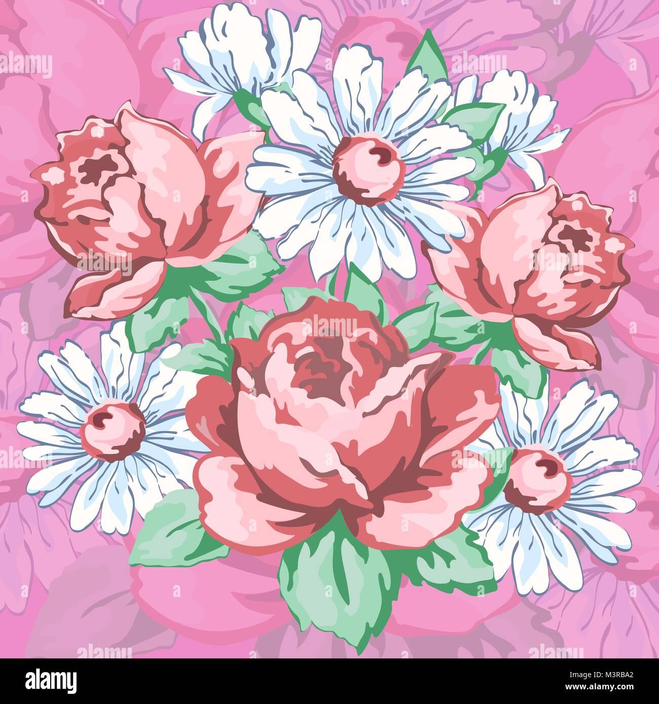 Flores Dibujadas A Mano Bordados Florales Telas De Diseno De