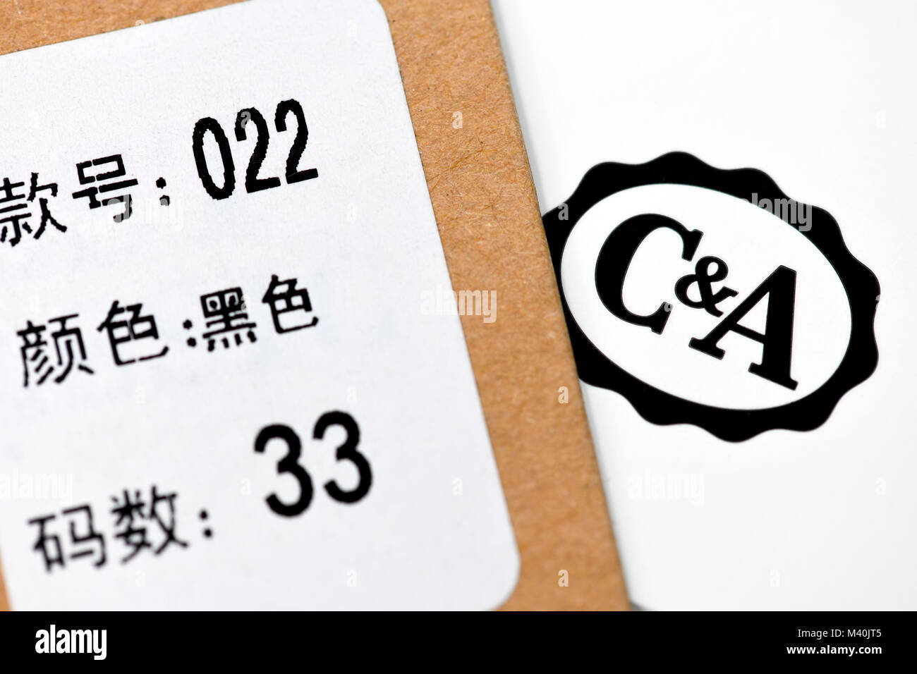 C A La Tradicion Y La Etiqueta Del Logotipo De La Compania China C A Comprueba La Venta De La Empresa A China C Un Logotipo Und Chinesisches Traditionsunternehmen Etikett C Fotografia De Stock