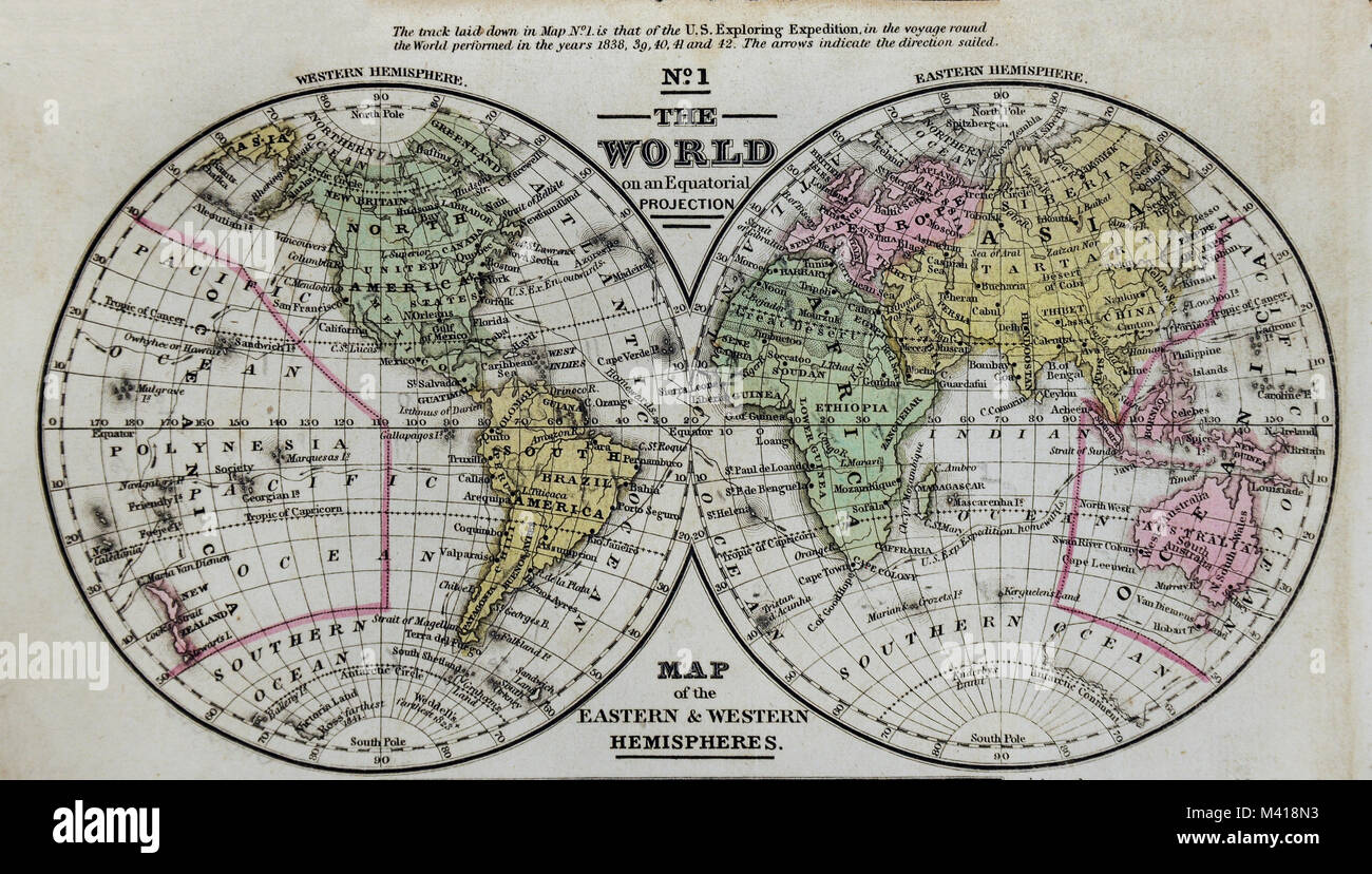 1839 world map mitchell en los hemisferios oriental y occidental 1839 world map mitchell en los hemisferios oriental y occidental frica asia australia norteamrica y sudamrica gumiabroncs