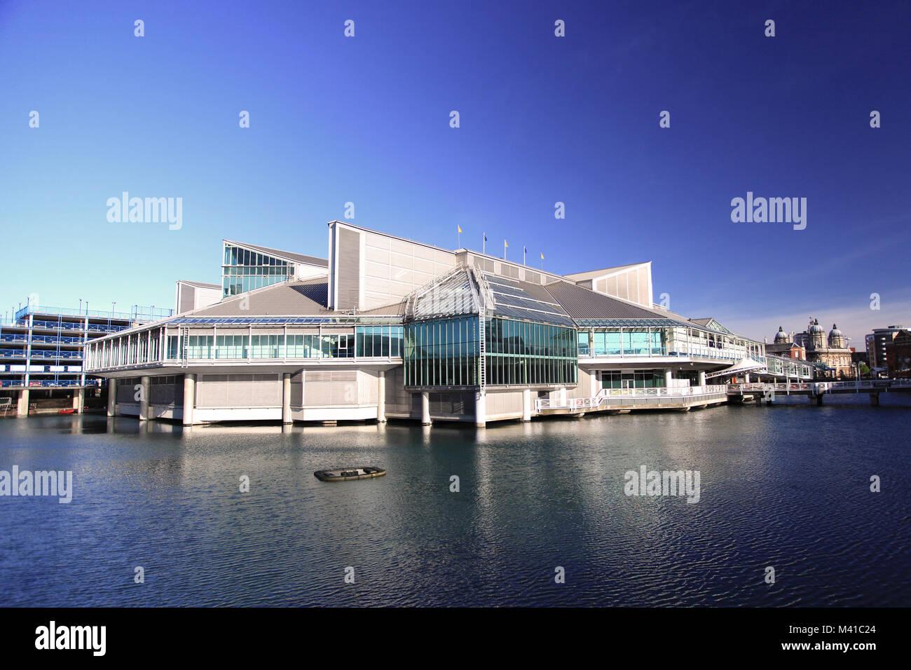 El centro comercial de Princes Quay, Princes Dock Street, Hull, Reino Unido Foto de stock