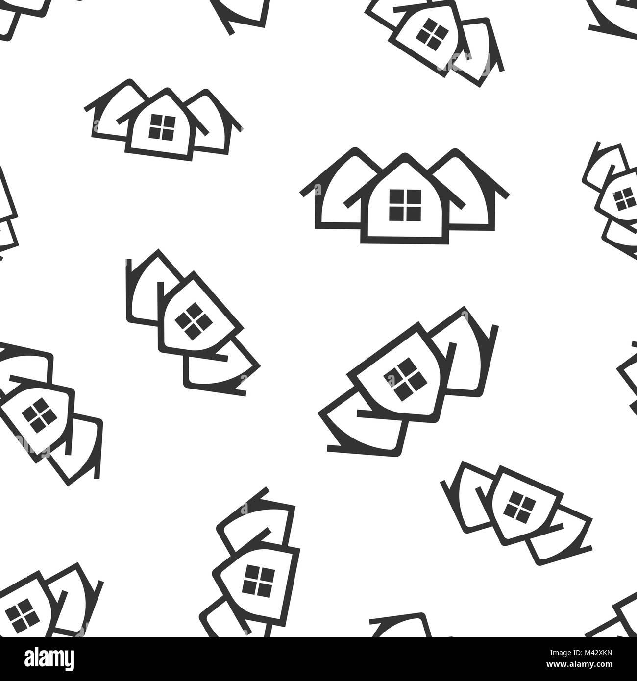 Casa perfecta icono de trama de fondo. Flat ilustración vectorial ...