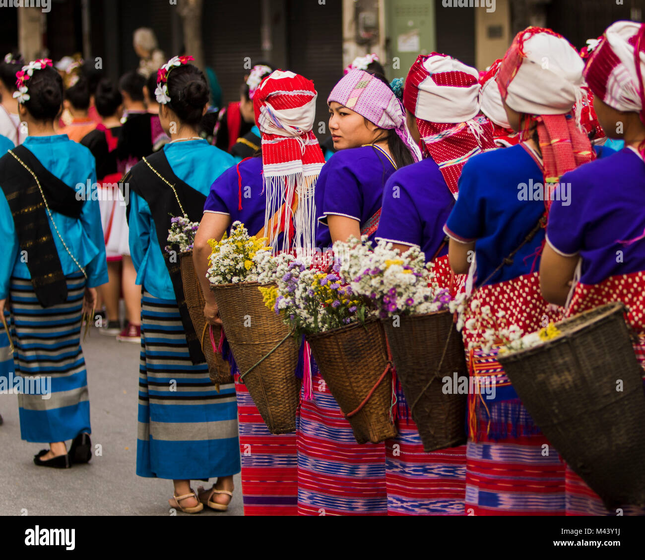 Chiang Mai Flower Festival Imagen De Stock