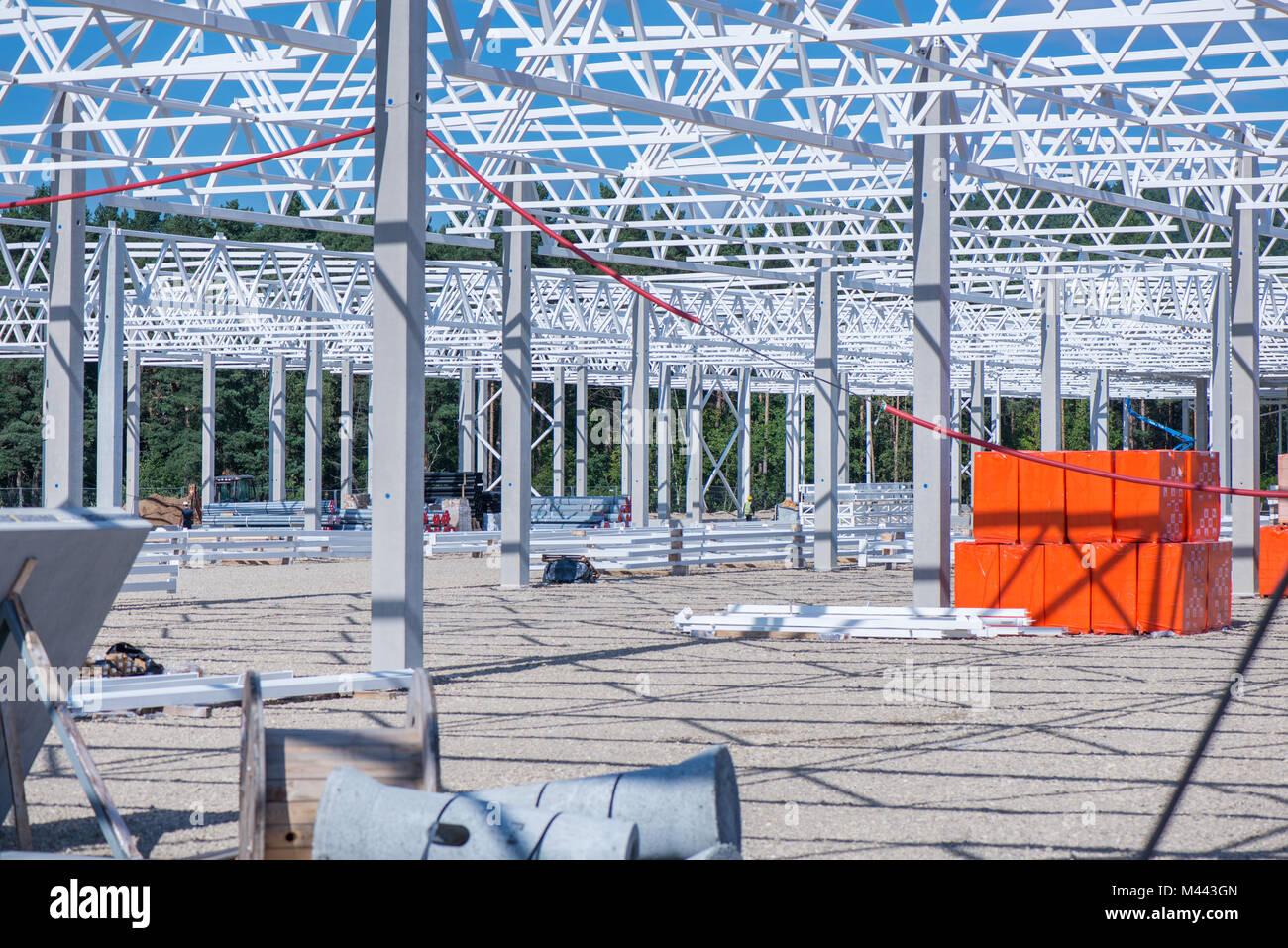Sitio de construcción industrial del nuevo centro comercial Shopping ...