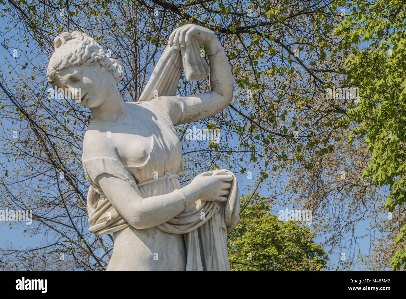 La escultura clásica en el jardín del palacio Stuttgart Foto de stock
