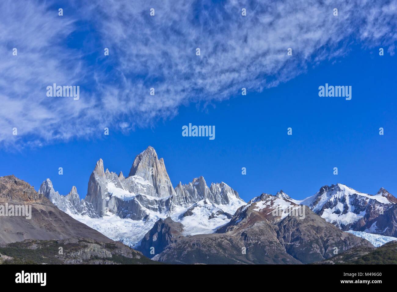 Monte Fitz Roy, Patagonia, Argentina, Sudamérica Foto de stock