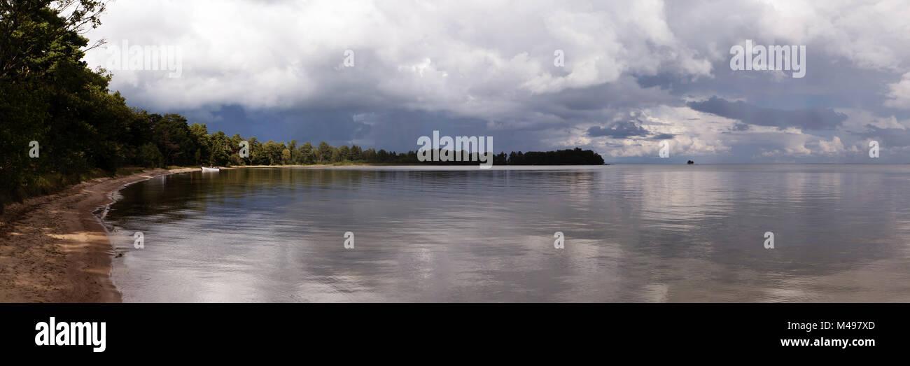 En Västergötland, Schweden Panoramablick Foto de stock