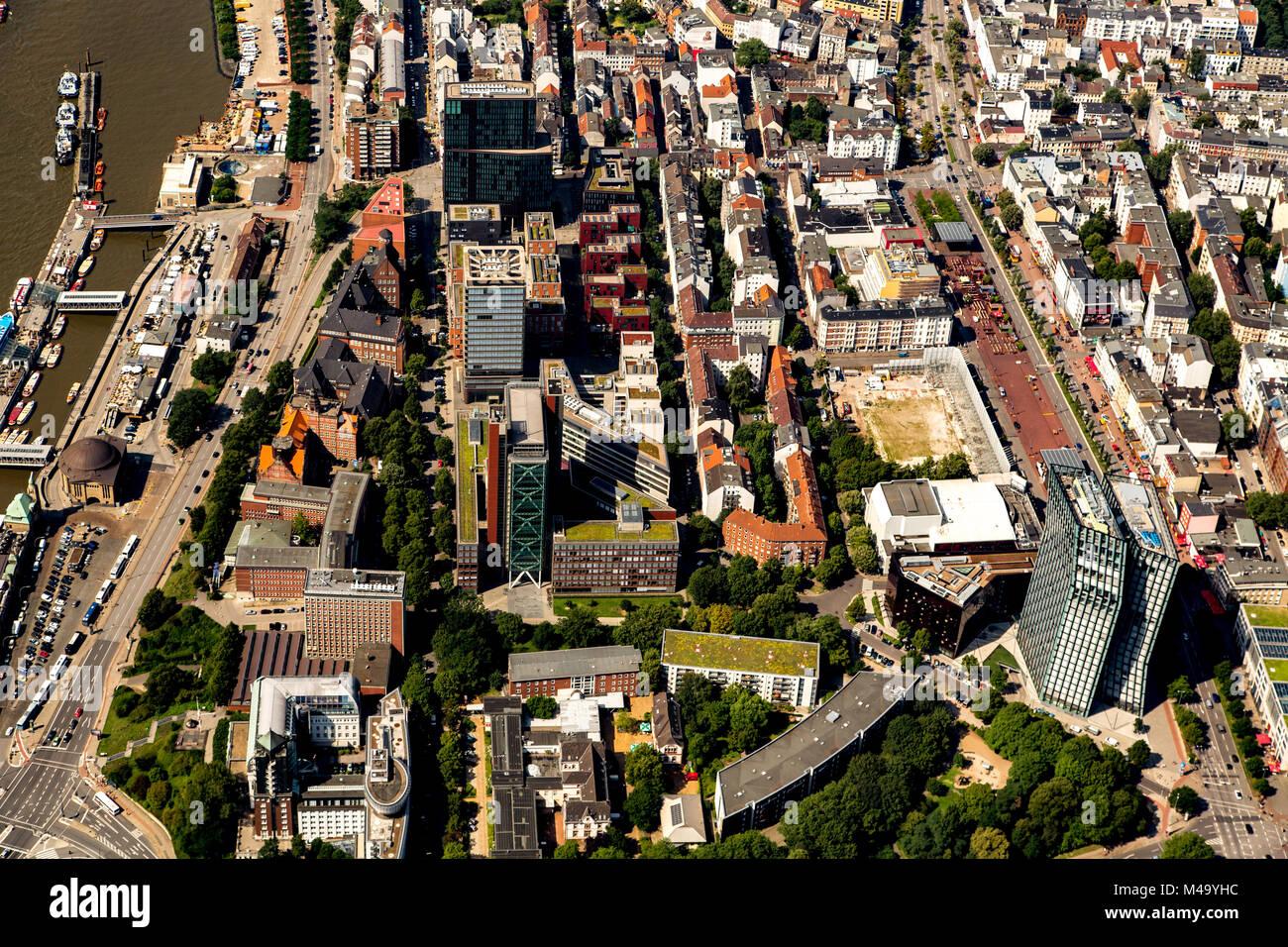 La ciudad de Hamburgo Foto de stock