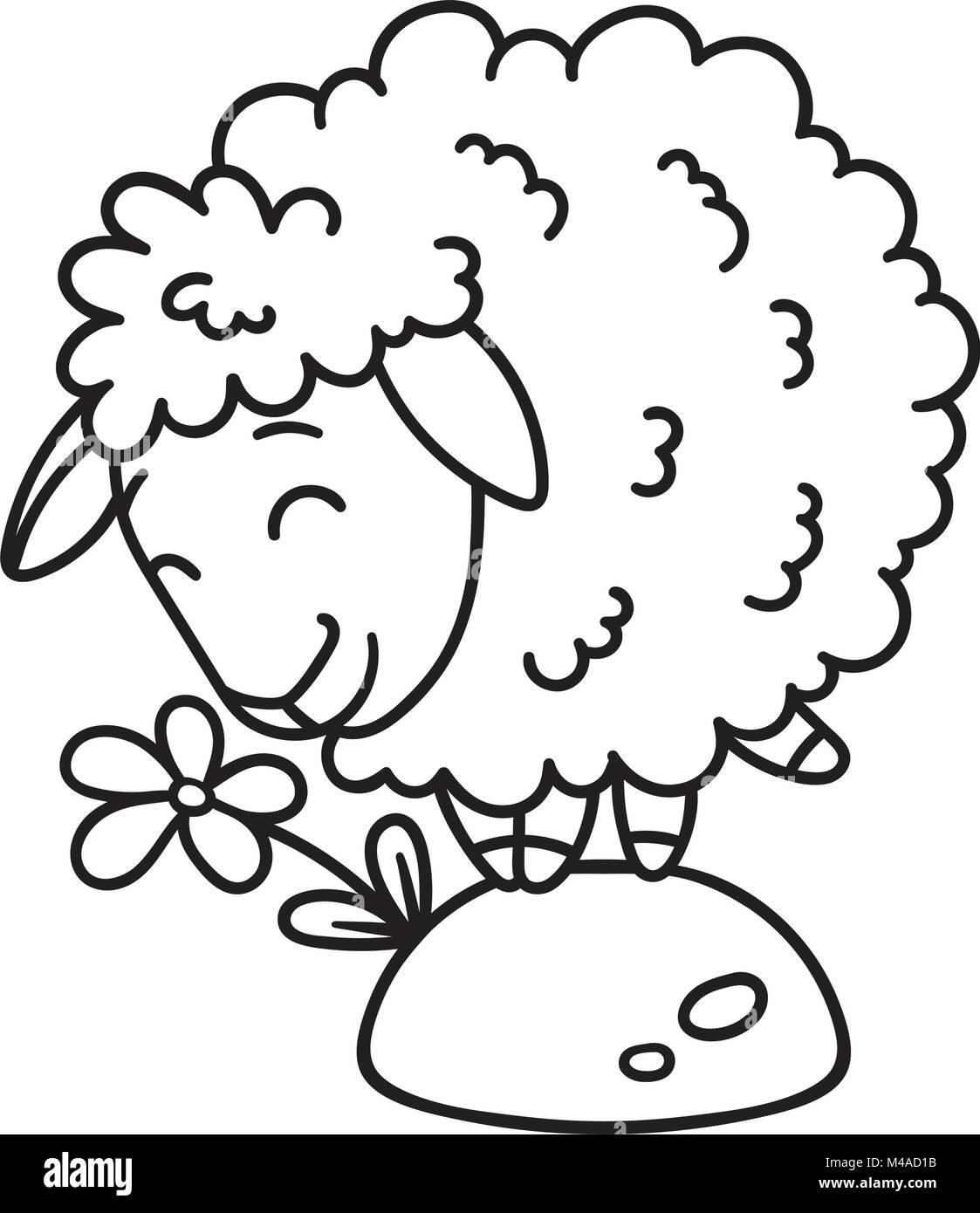 Black Sheep Drawing Imágenes De Stock & Black Sheep Drawing Fotos De ...