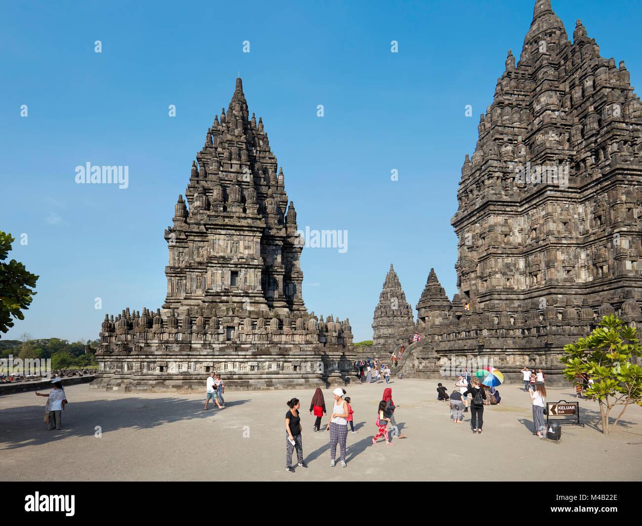Prambanan, Templo Hindú compuesto. La región especial de Yogyakarta, en Java, Indonesia. Imagen De Stock