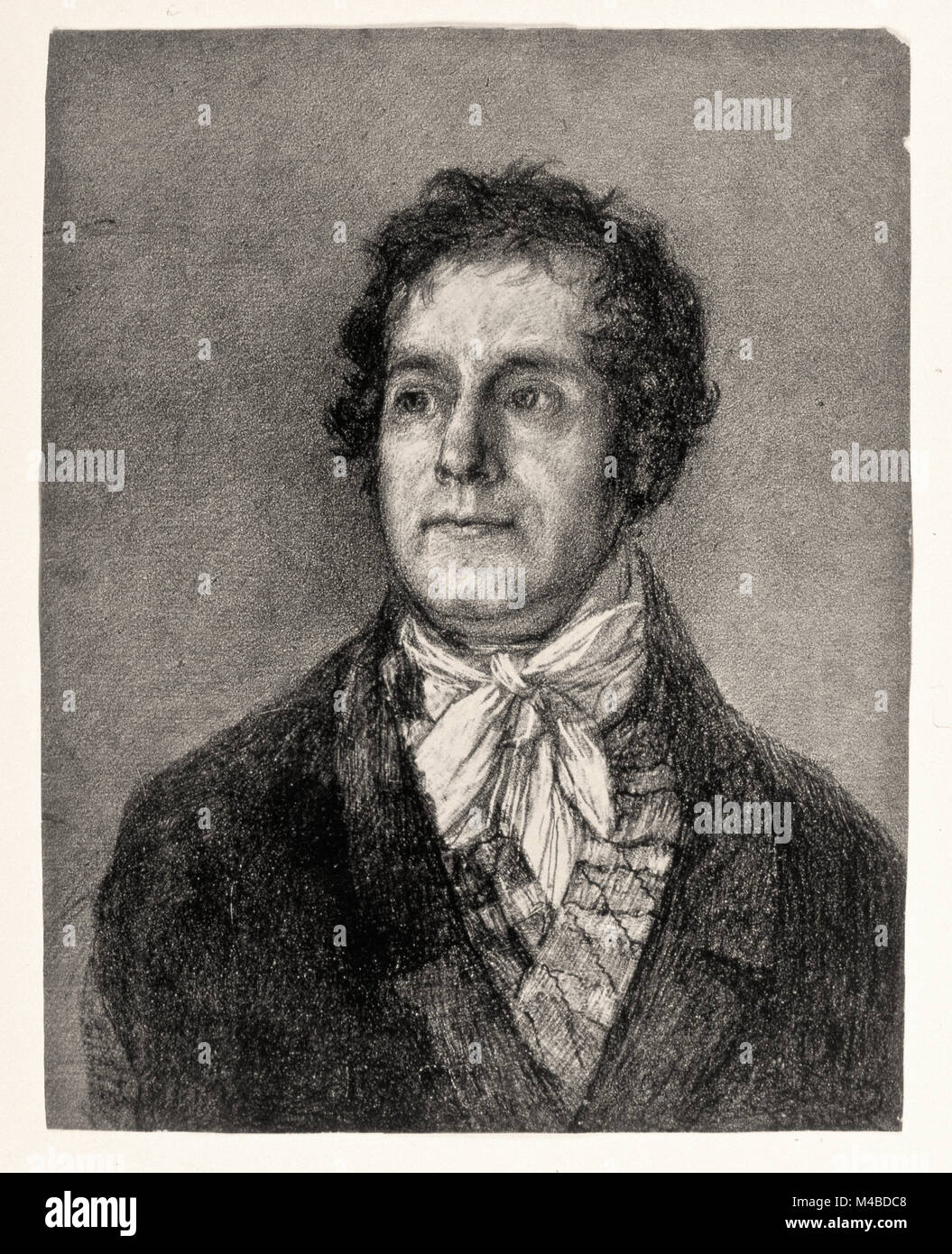 Francisco de Goya y Lucientes - La impresora Gaulon Foto de stock