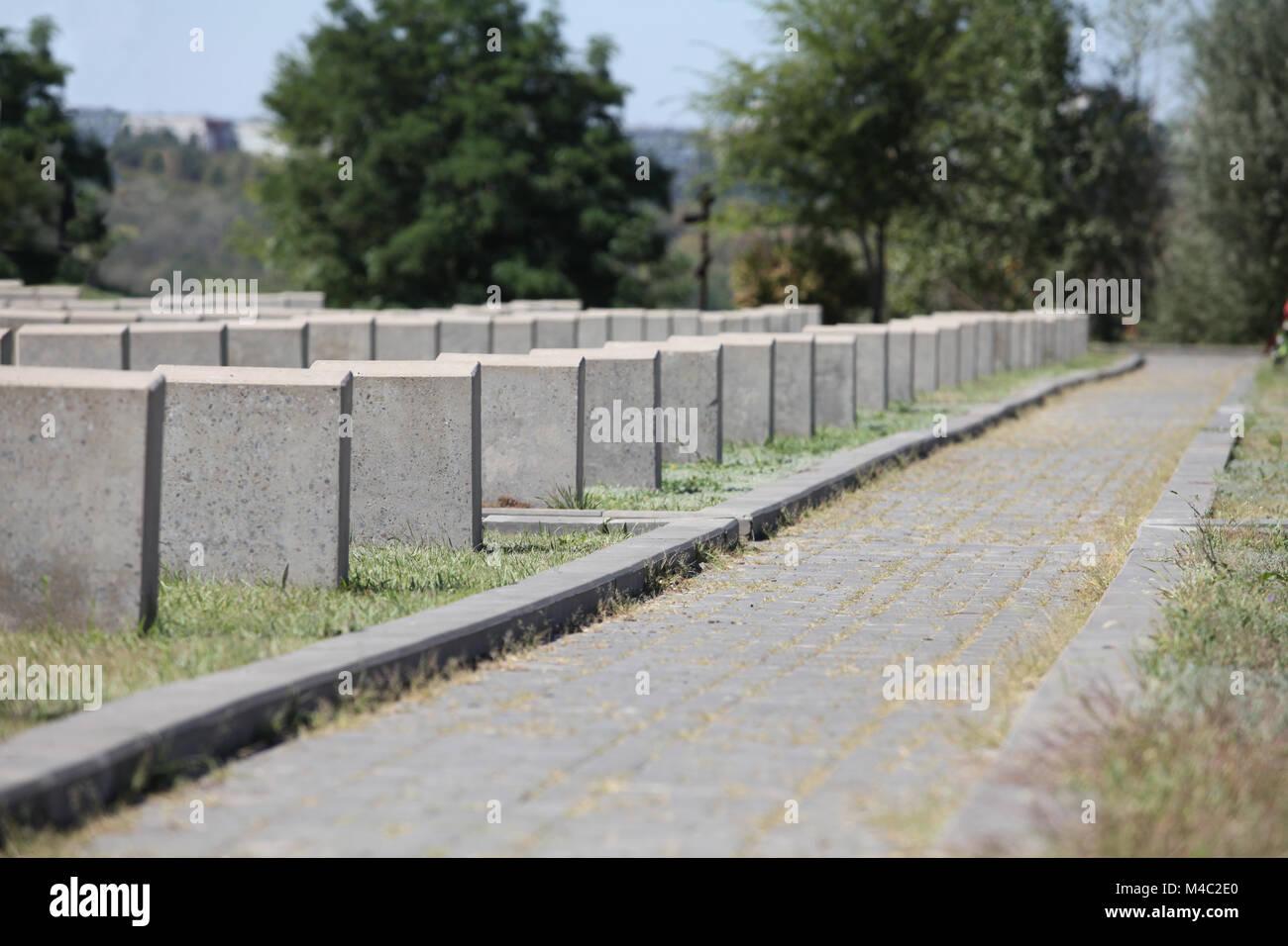 Un número infinito de lápidas monumento al Soldado Desconocido Foto de stock