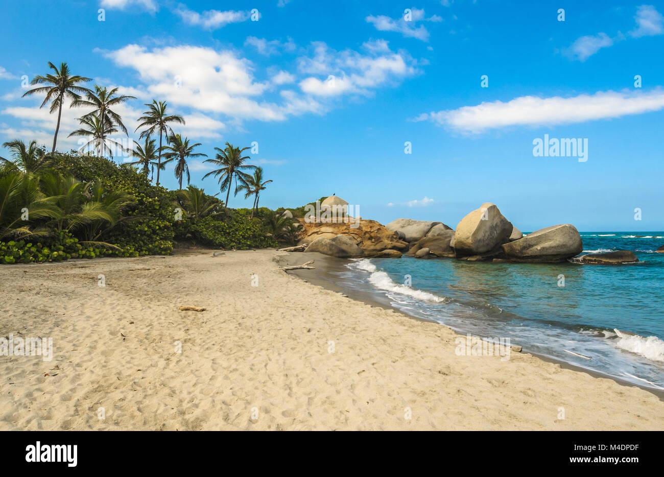 Arrecifes Playa, Parque Nacional Tayrona, Colombia Imagen De Stock