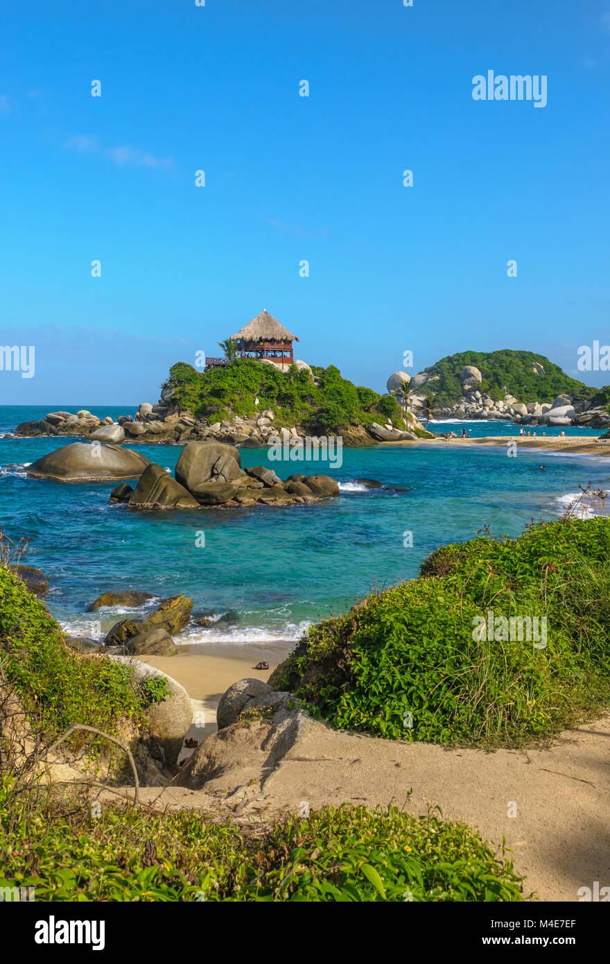 Cabo San Juan, el Parque Nacional Tayrona, Colombia Imagen De Stock