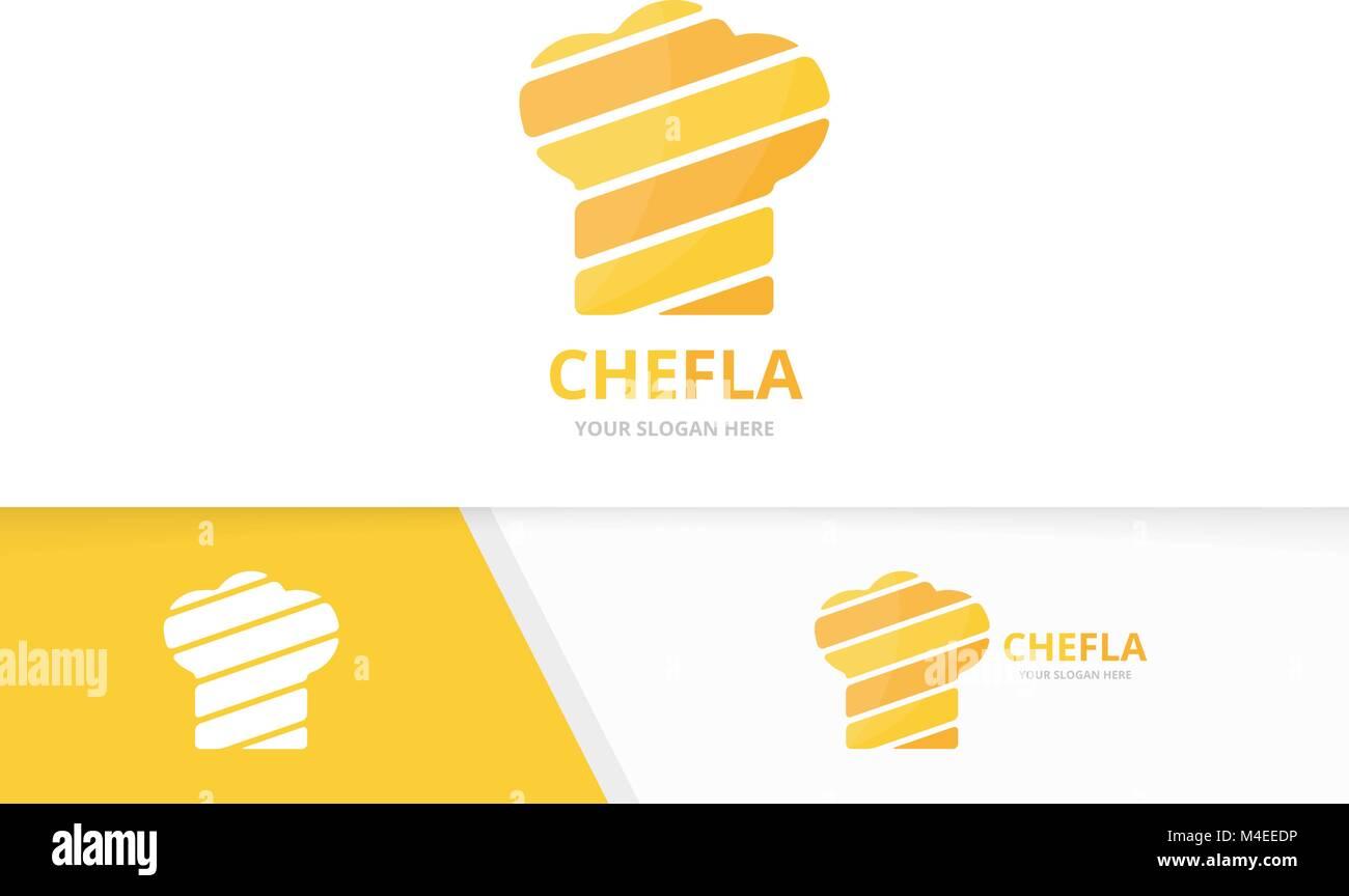 Vector de chef hat combinación de logotipo. Cocina Símbolo o icono ...