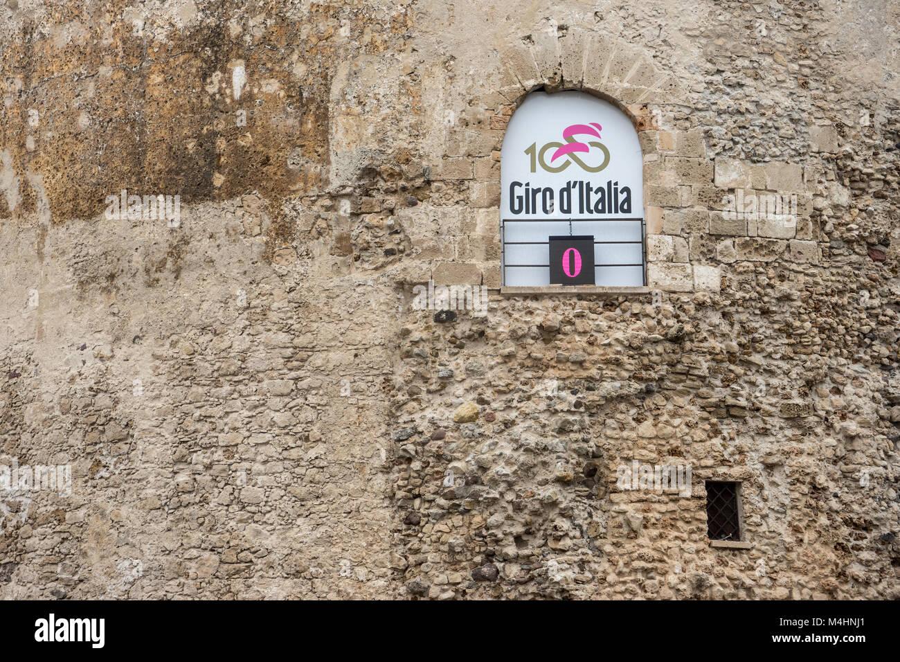 Comienzo del Giro d'Italia en Alghero, Cerdeña Imagen De Stock