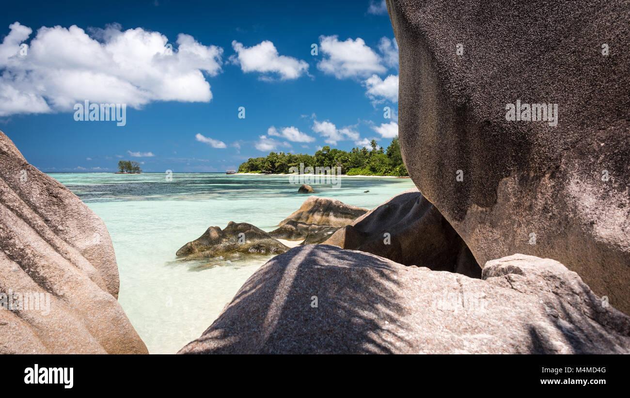 Anse Source d'Argent, La Digue, Seychelles Imagen De Stock