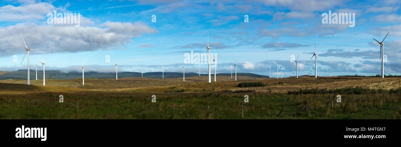 Dunmore Parque Eólico, Formoyle, Limavady, Condado de Derry, Irlanda del Norte. Imagen De Stock