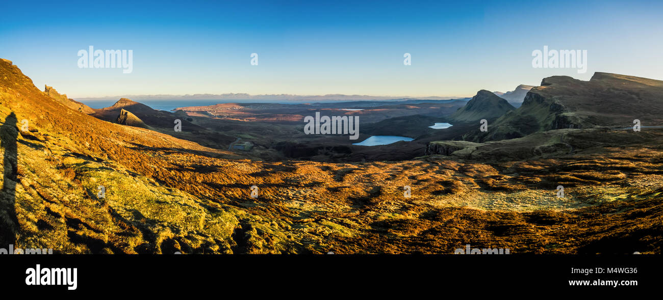 El Quiraing y Trotternish Ridge, Isla de Skye Foto de stock