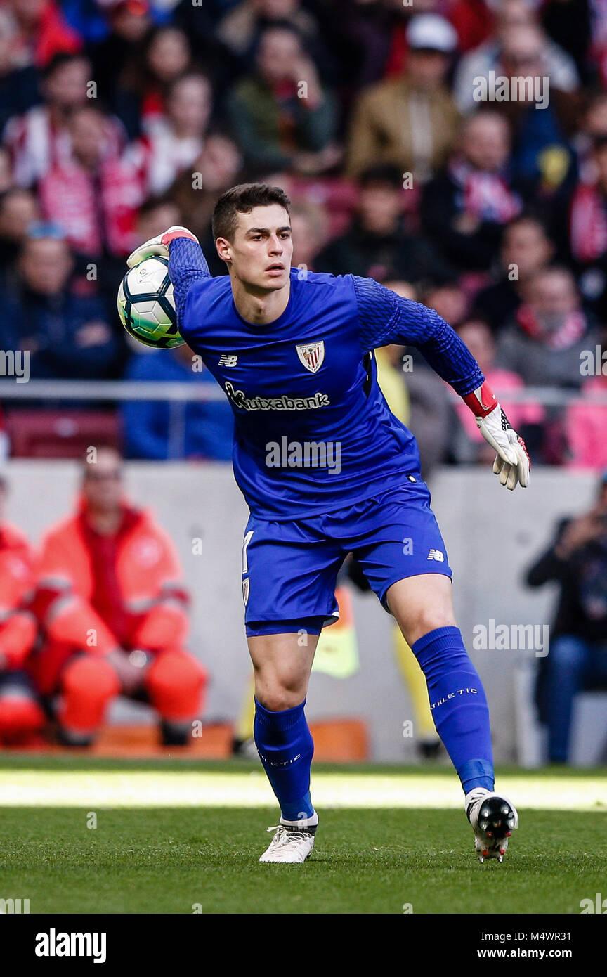 Kepa Arrizabalaga (Athletic Club de Bilbao) en acción durante el partido de  Liga del ab718b4d1616d