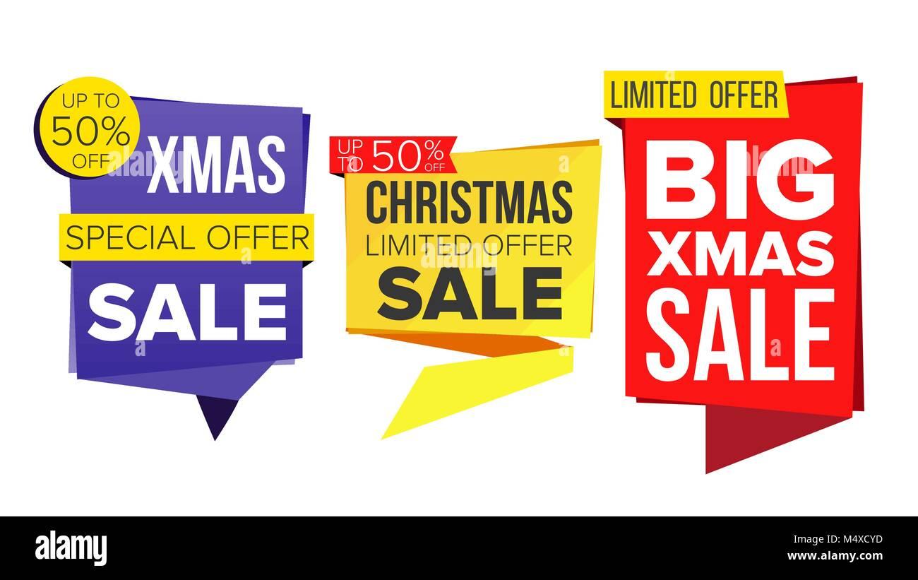 d2404ea97 Venta de Navidad Vector conjunto de banners. Venta Banner. Etiqueta de  descuento