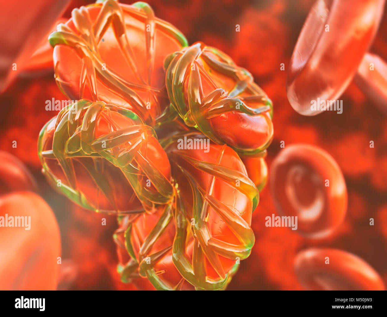 Closeup Thrombose- 3D rendering Foto de stock