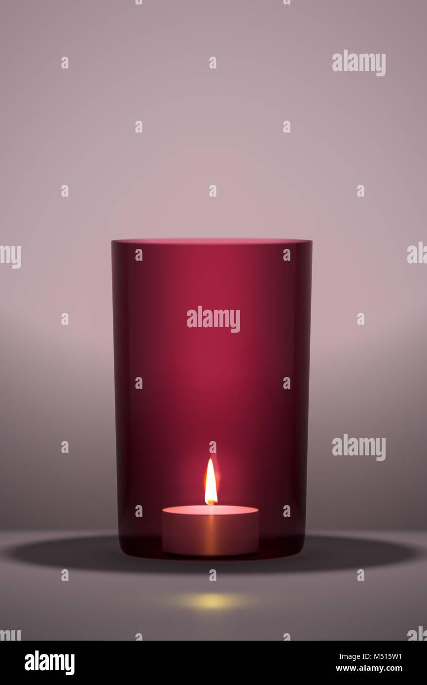 Vela roja con espacio para su contenido Imagen De Stock