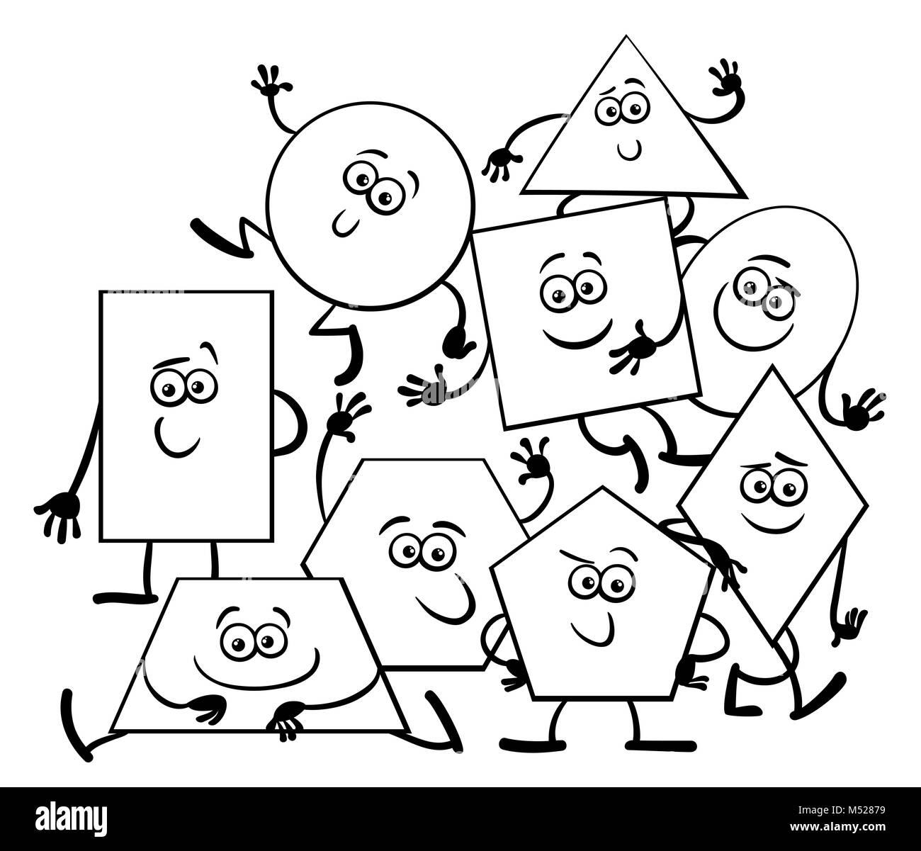 Libro para colorear de formas geométricas de dibujos animados Foto ...