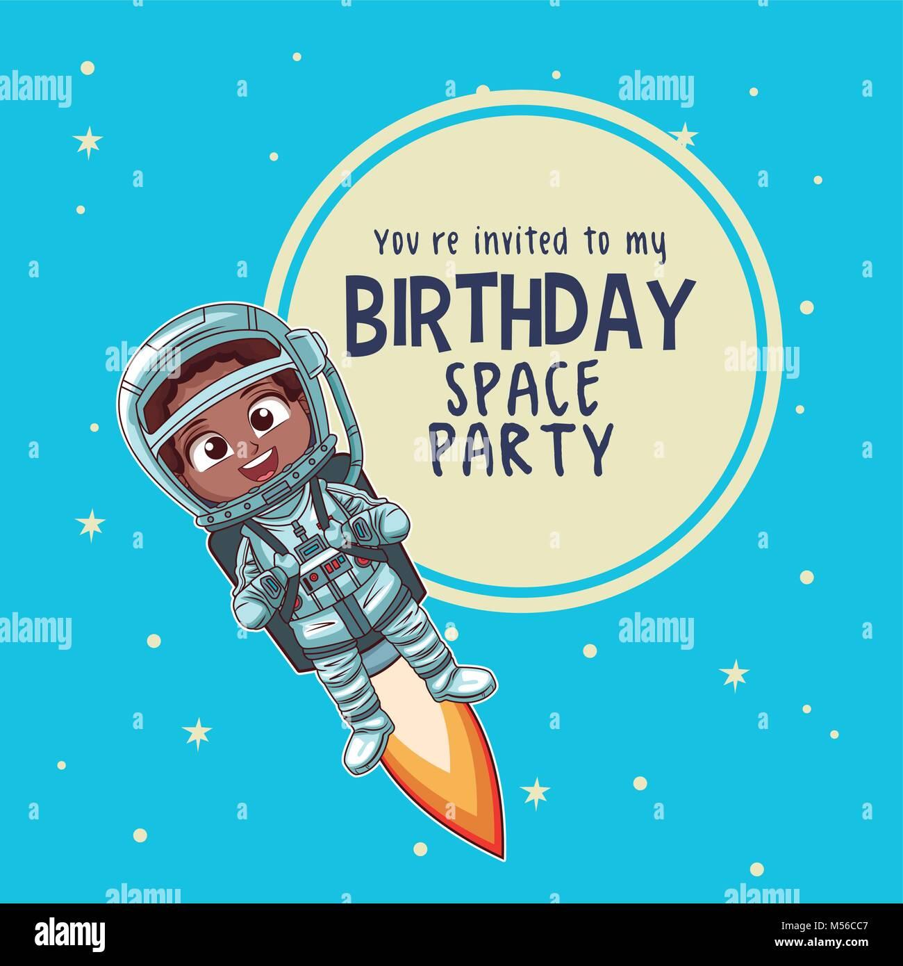Tarjeta De Invitación De Cumpleaños Ilustración Del Vector
