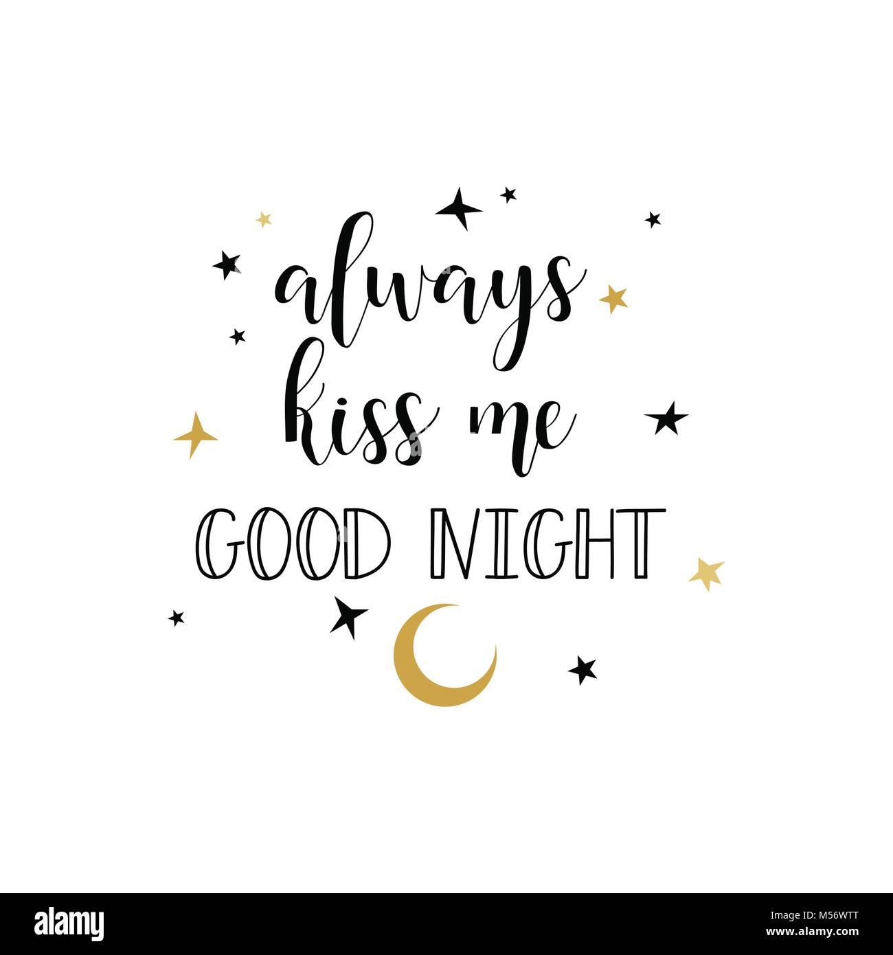 Siempre Me Beso De Buenas Noches Cepillo Moderno Caligrafia