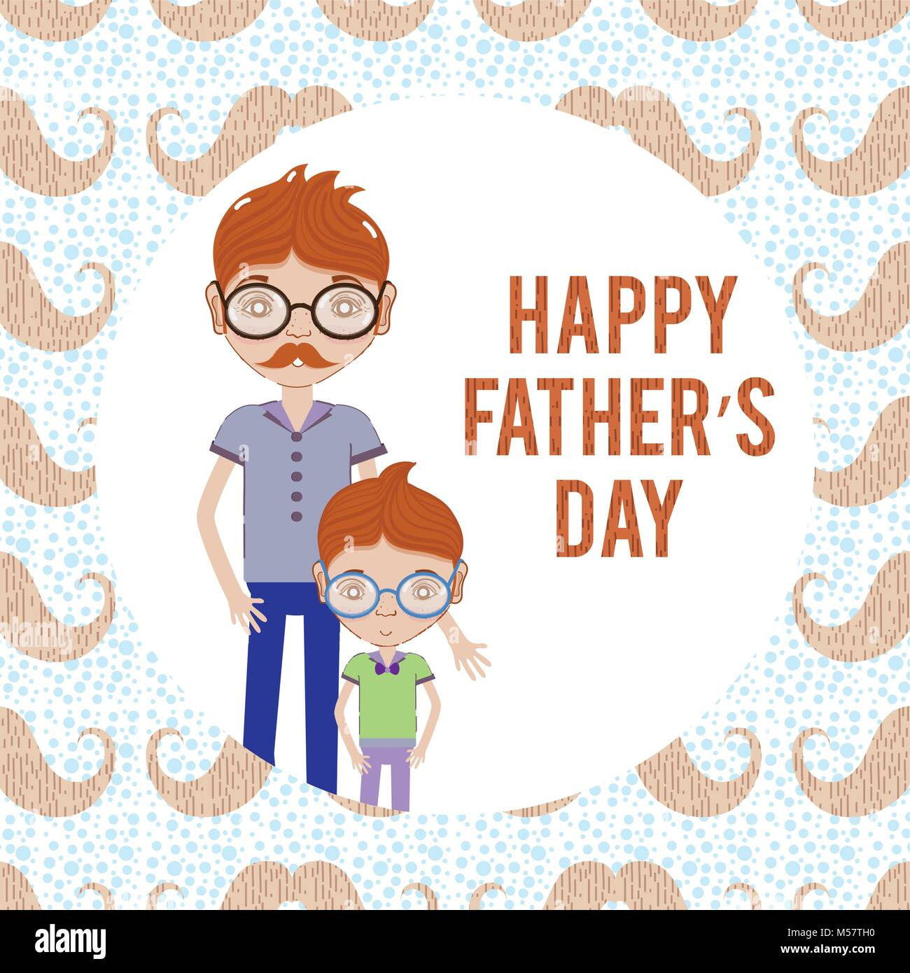 Illustration de dessin animé drôle de fête des pères heureux